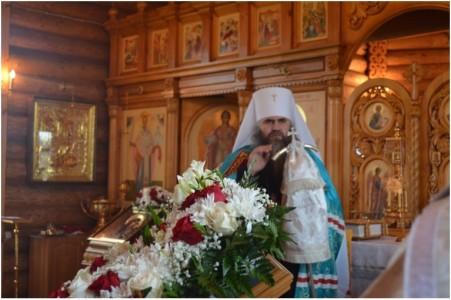 Архиерейское благословение собравшихся на освящение храма прихожан