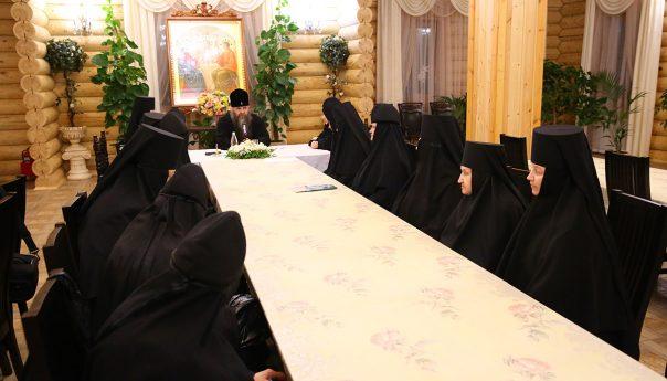 15 февраля 2019 г. Владыка Георгий встретился с насельницами Арзамасского Николаевского женского монастыря