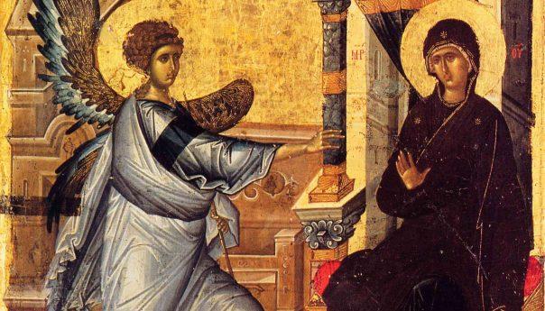 Благовещение - В среду Крестопоклонной седмицы